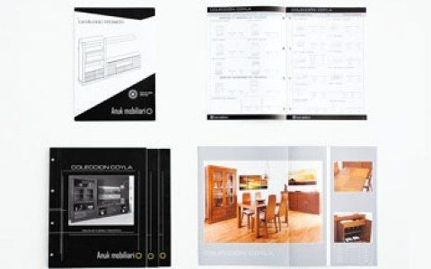 Diseño y maquetación de catálogo Anuk mobiliario