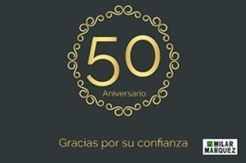 Cartel 50 aniversario empresa