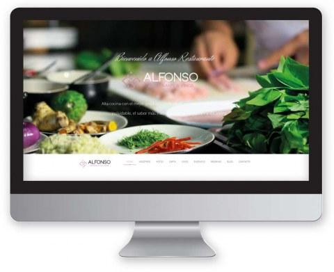 Diseño web Alfonso restaurante