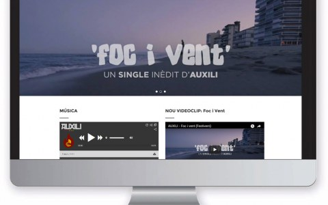 Diseño web; Grupo música Auxili
