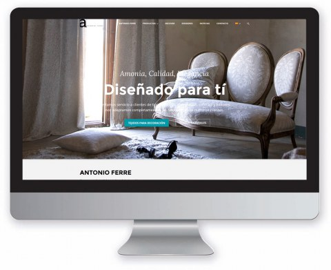 Diseño web Antonio Ferre