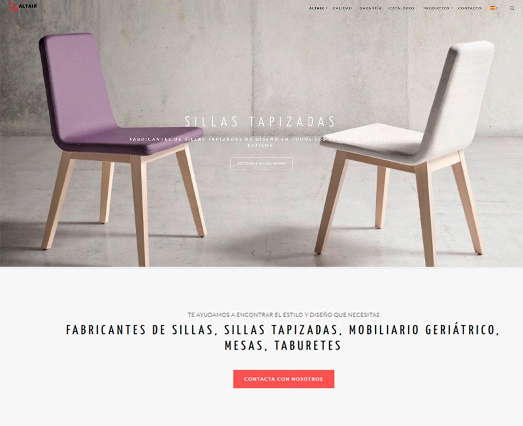 Diseño web para empresas sillas