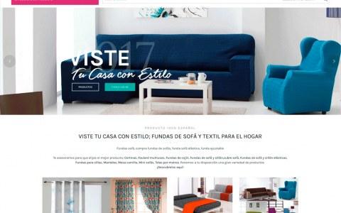 Diseño tienda virtual hogar, telas