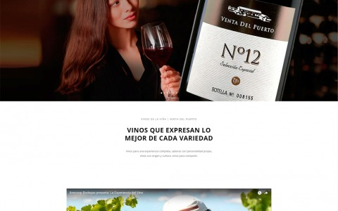 Diseño web bodega vinos