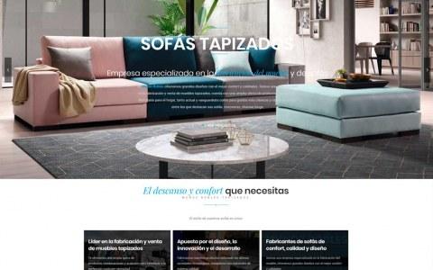 Diseño web para tapizados