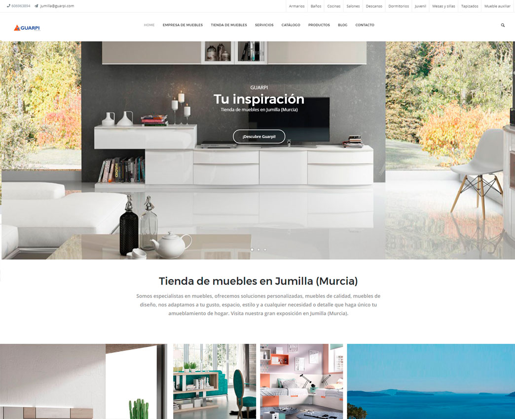 Diseño web para muebles