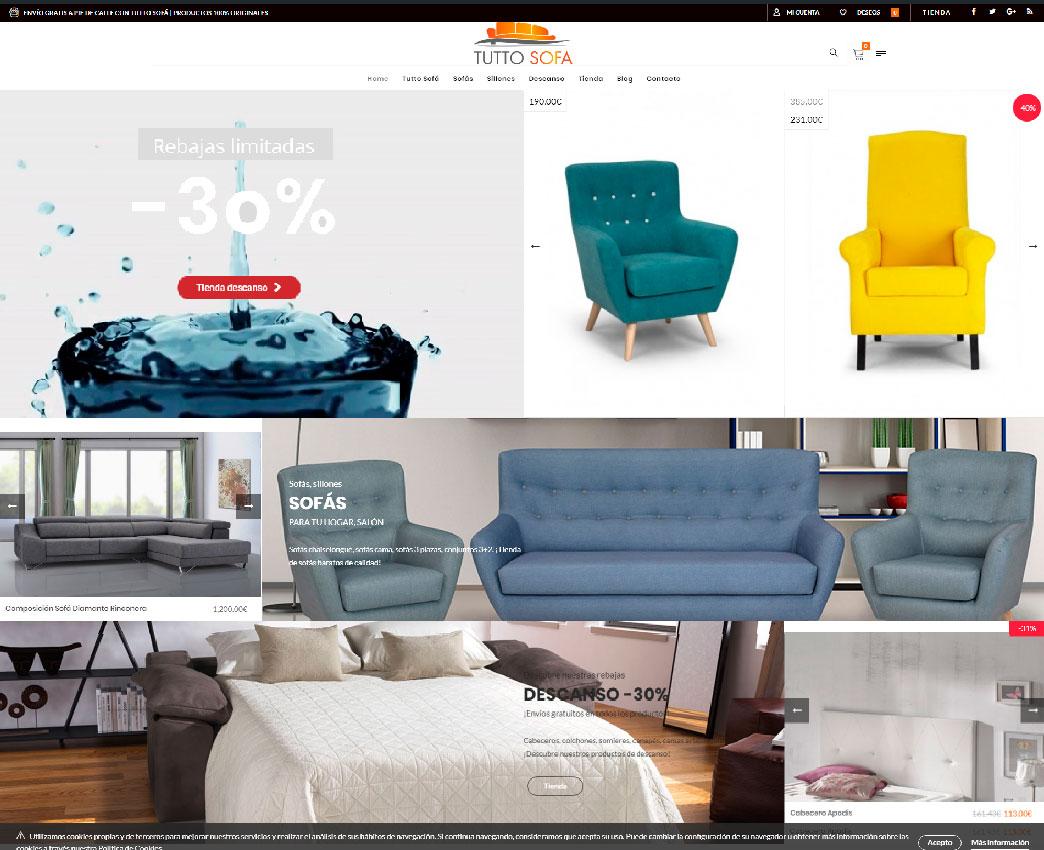 Diseño web para fabricantes de sofá