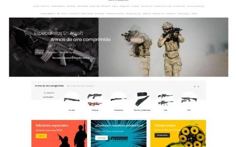 Diseño web tienda armas aire comprimido