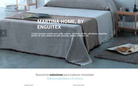 Diseño web para fabricante textil