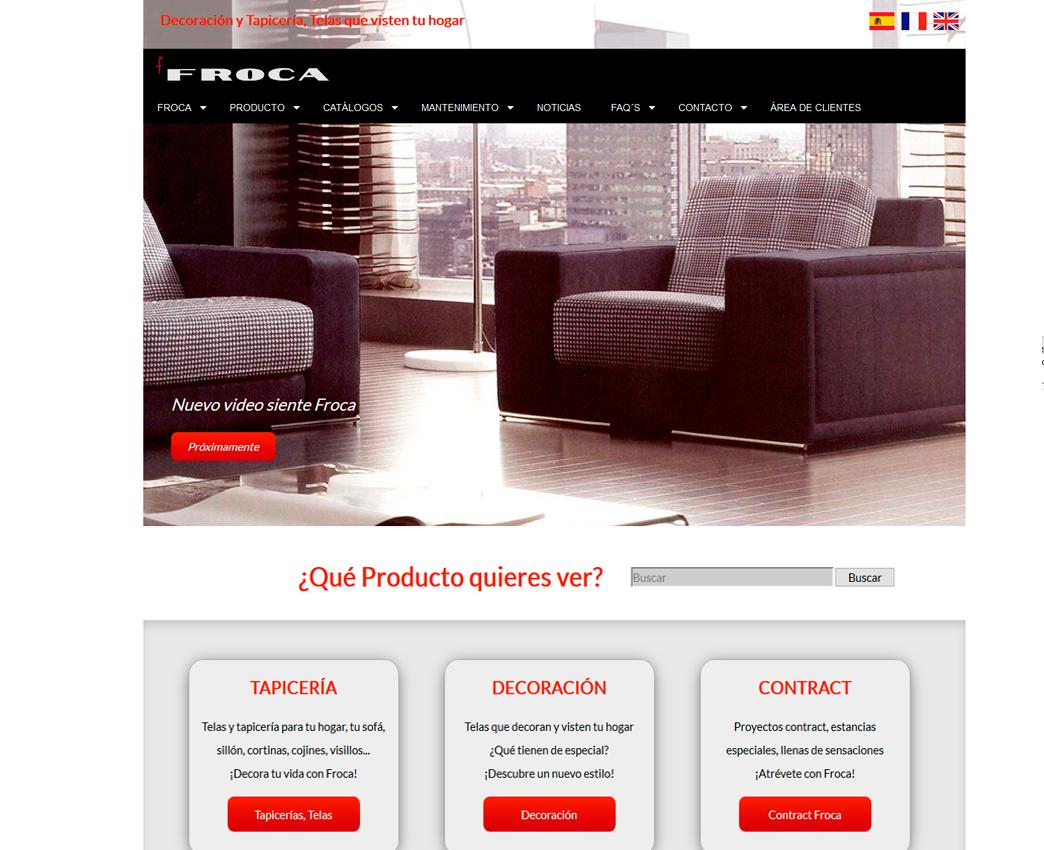 Página web Froca