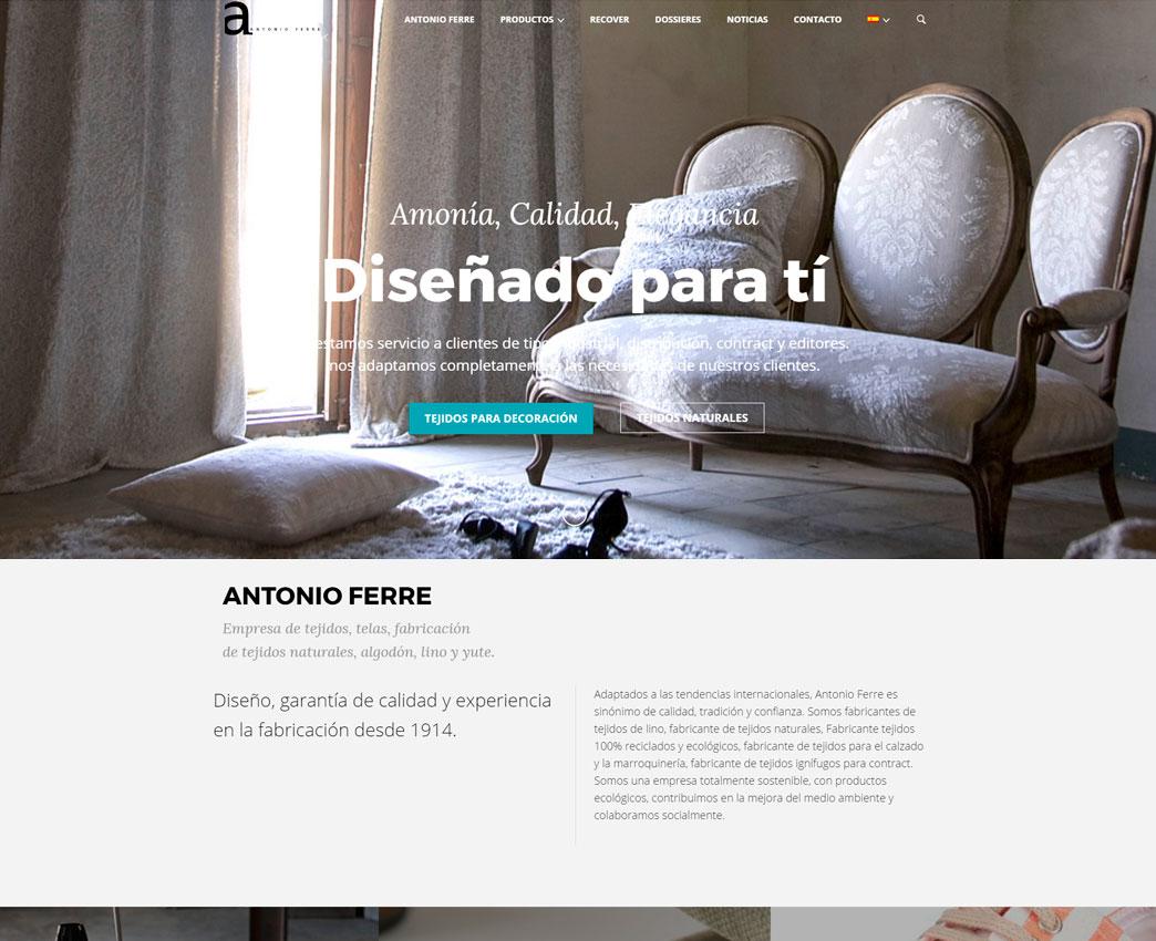 Diseño web para textil