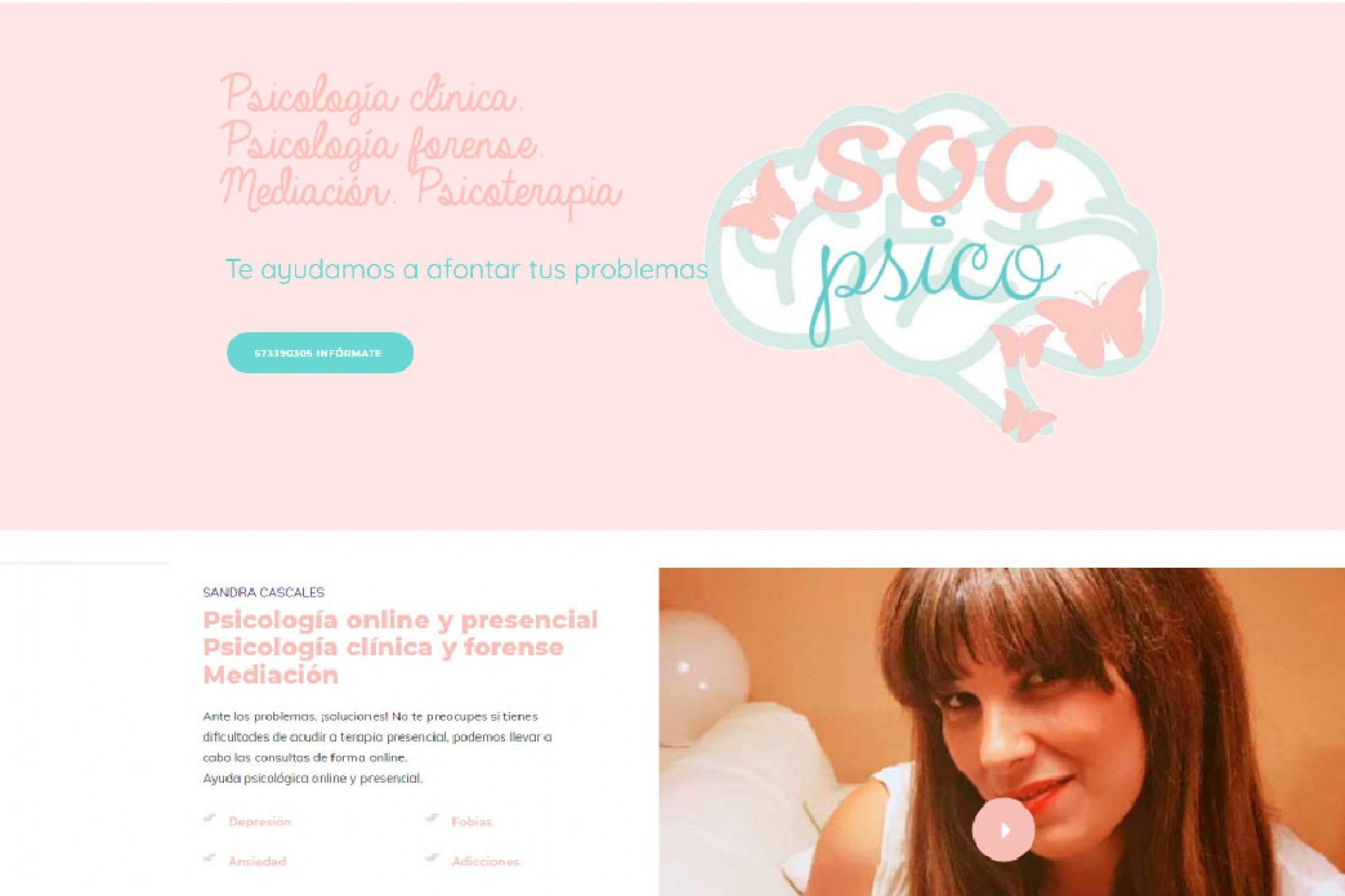 Página web psicología