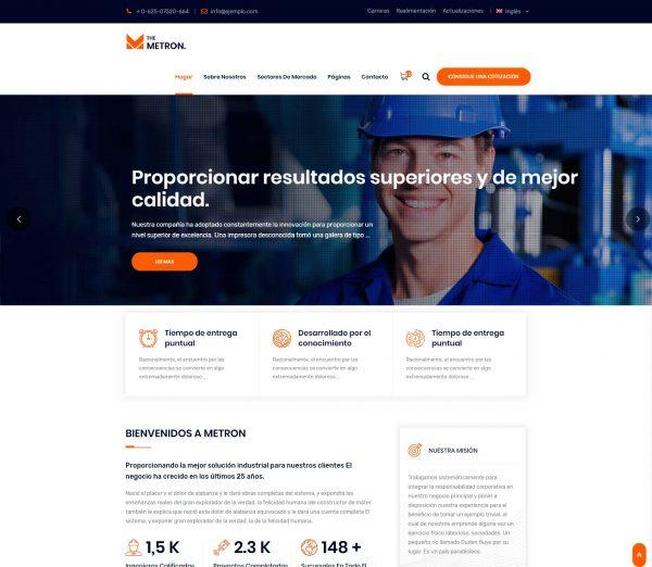 Temas, plantillas web para construcción