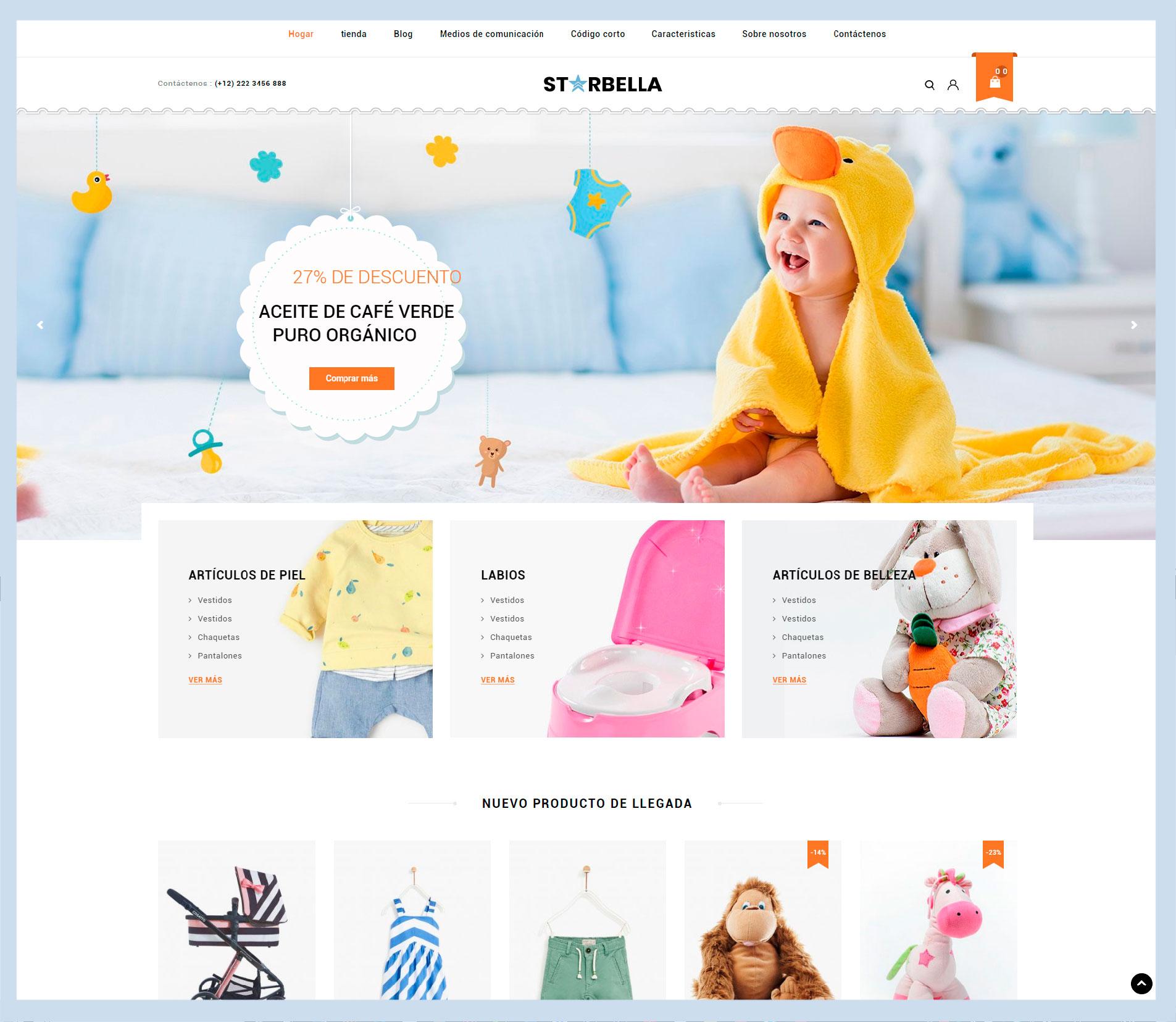 Página web y tienda online de juguetes y cosas para niños j1