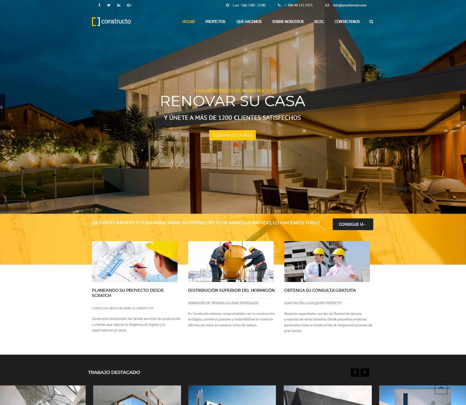 Diseño web para constructoras, compra web