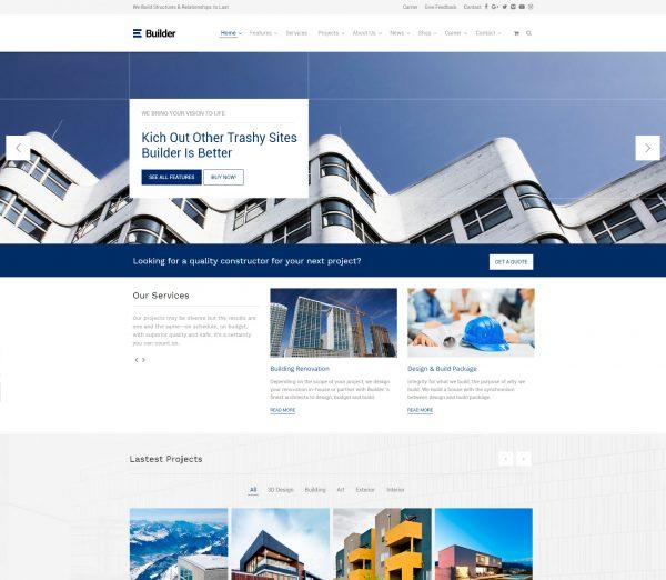 Páginas webs para constructoras