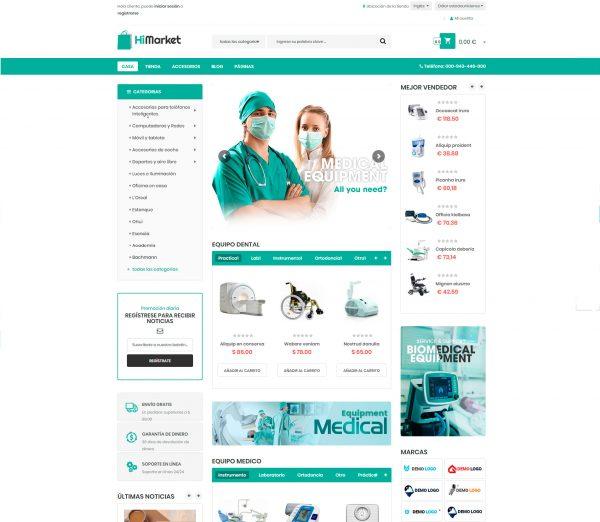 Tienda online equipamiento médico sanitario